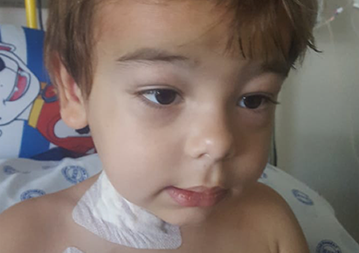 Joshua is currently 4 years old and his journey started back in 2016, when he became ill.